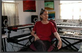 Lucette Bourdin in her studio