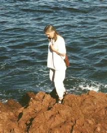 Lucette Bourdin on shore