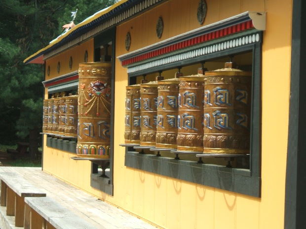 Prayer Wheels at TMBCC, Bloomington IN