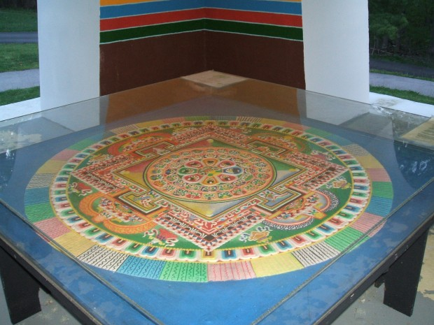 Tibetan Sand Mandala at TMBCC, Bloomington IN