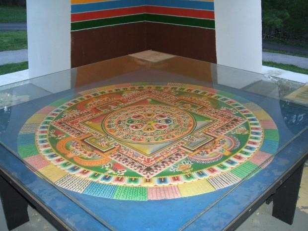 Tibetan Sand Mandala at TMBCC, Bloomington IN